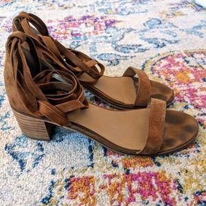 Steve Madden Rizzaa Lace Up Block Heel Sandals